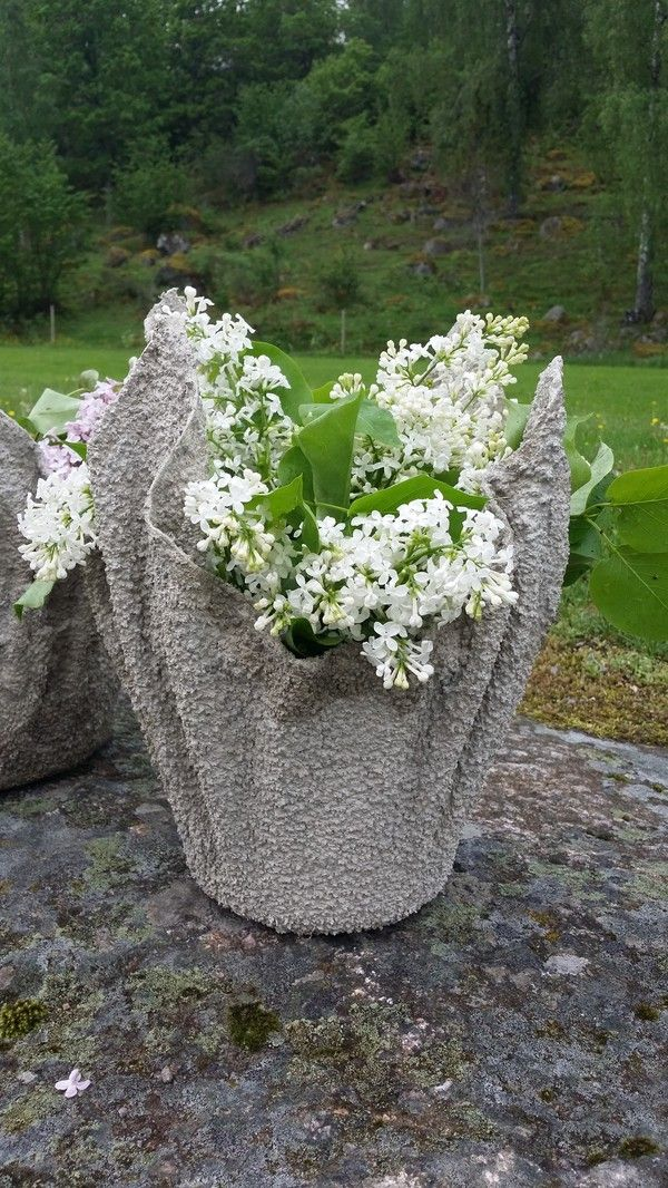 cement cloth planters instructions