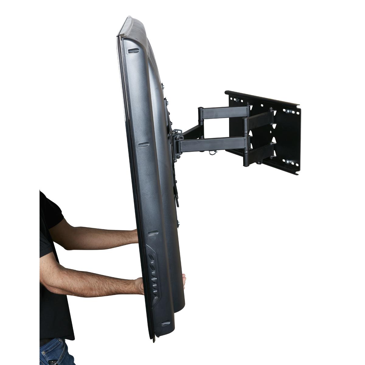 rocketfish full motion tv wall mount instructions