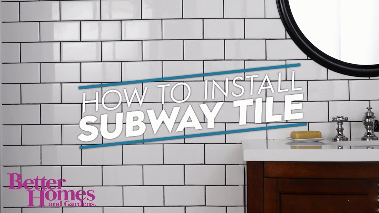 subway tile installation instructions