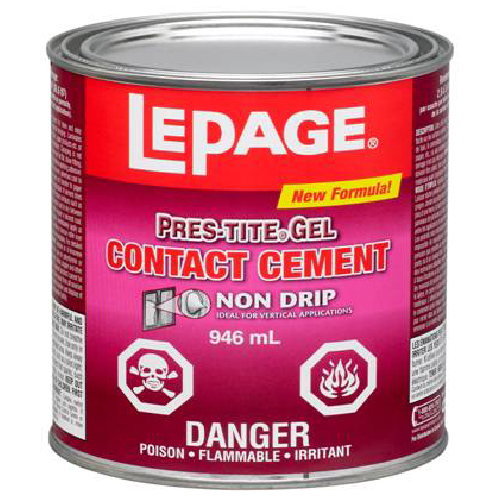lepage contact cement instructions