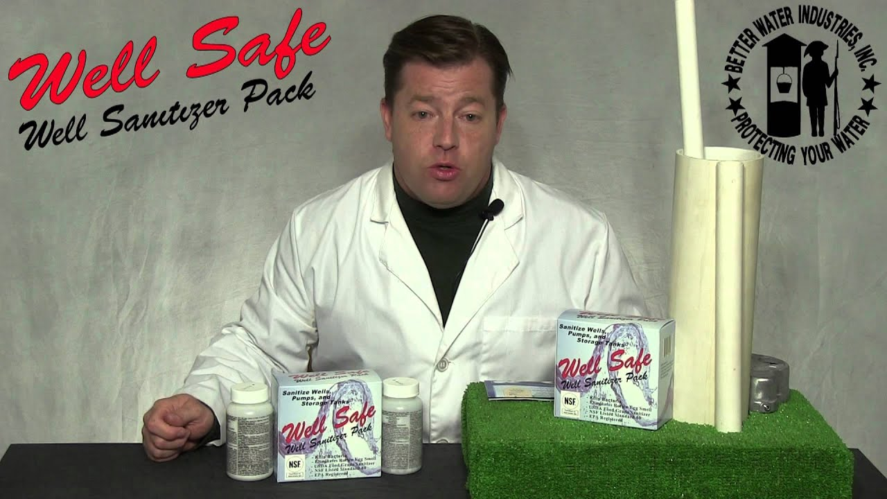 well safe well sanitizer pack instructions
