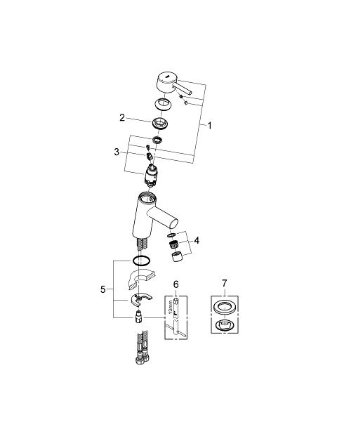 grohe concetto installation instructions