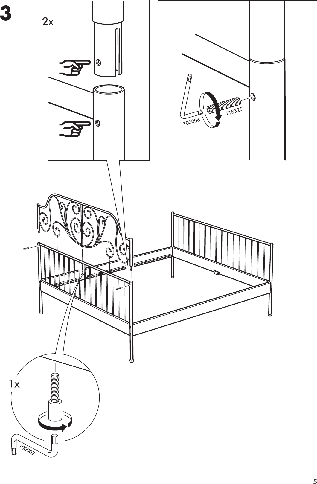 ikea hemnes queen bed assembly instructions