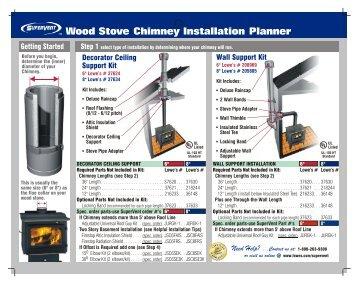 wood stove chimney installation instructions
