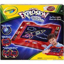 crayola color explosion glow board instructions
