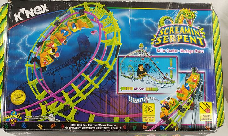 knex screamin serpent roller coaster instructions