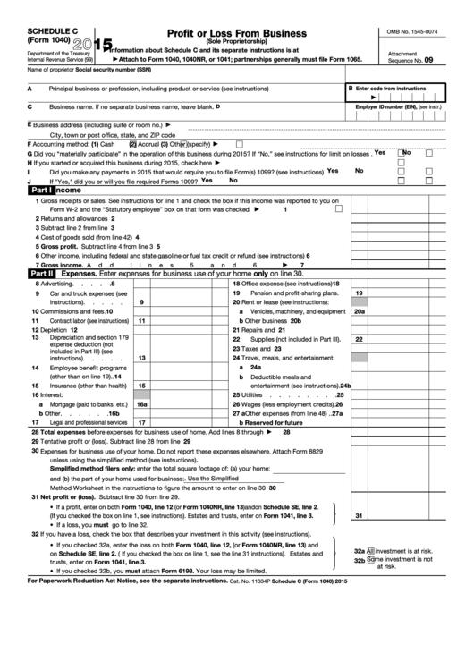 internal revenue service 1040 instructions