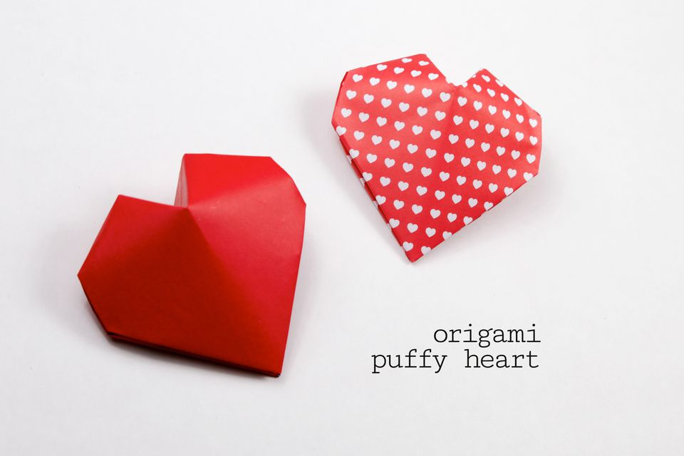 3d origami heart instructions