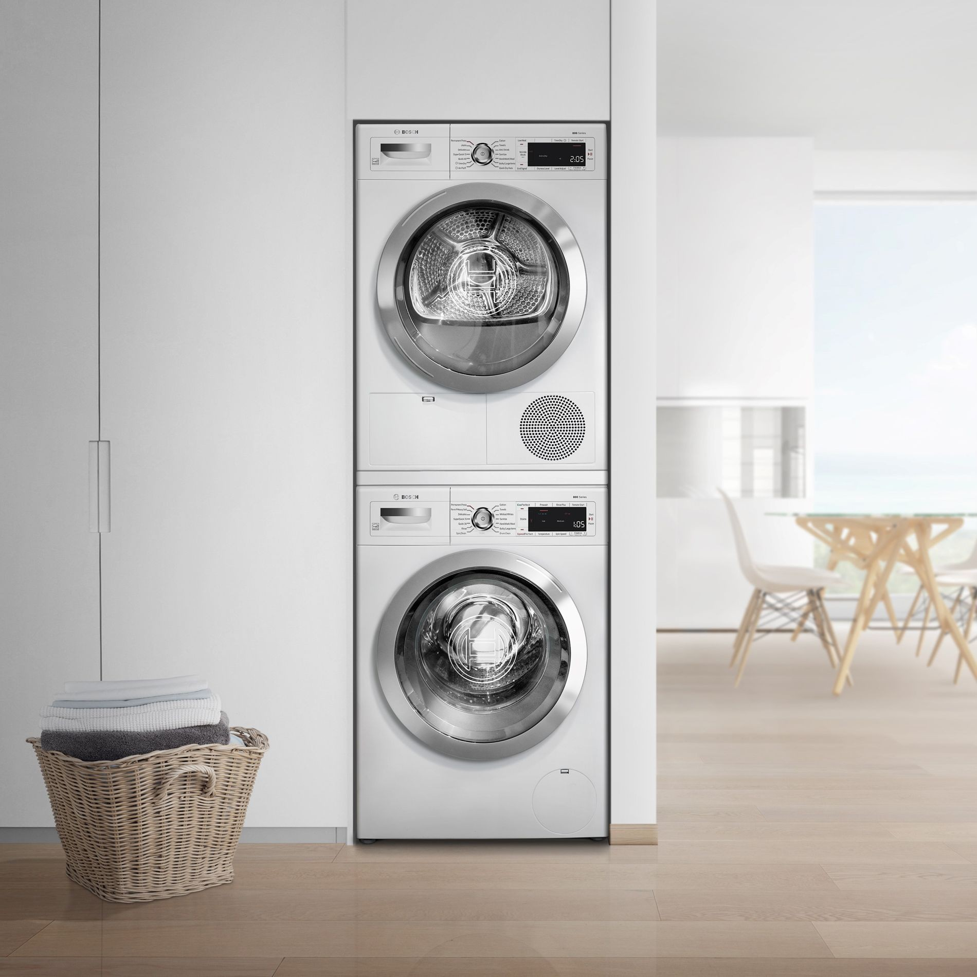 bosch stackable washer dryer instructions