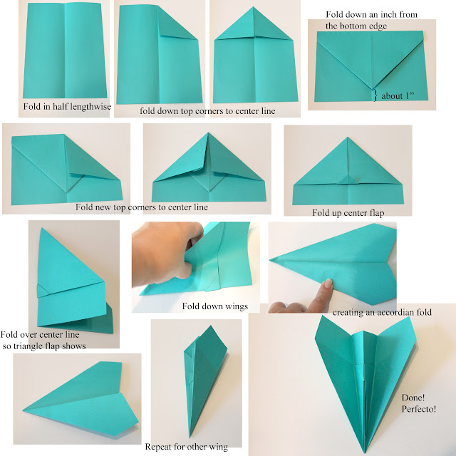 cool paper plane instructions