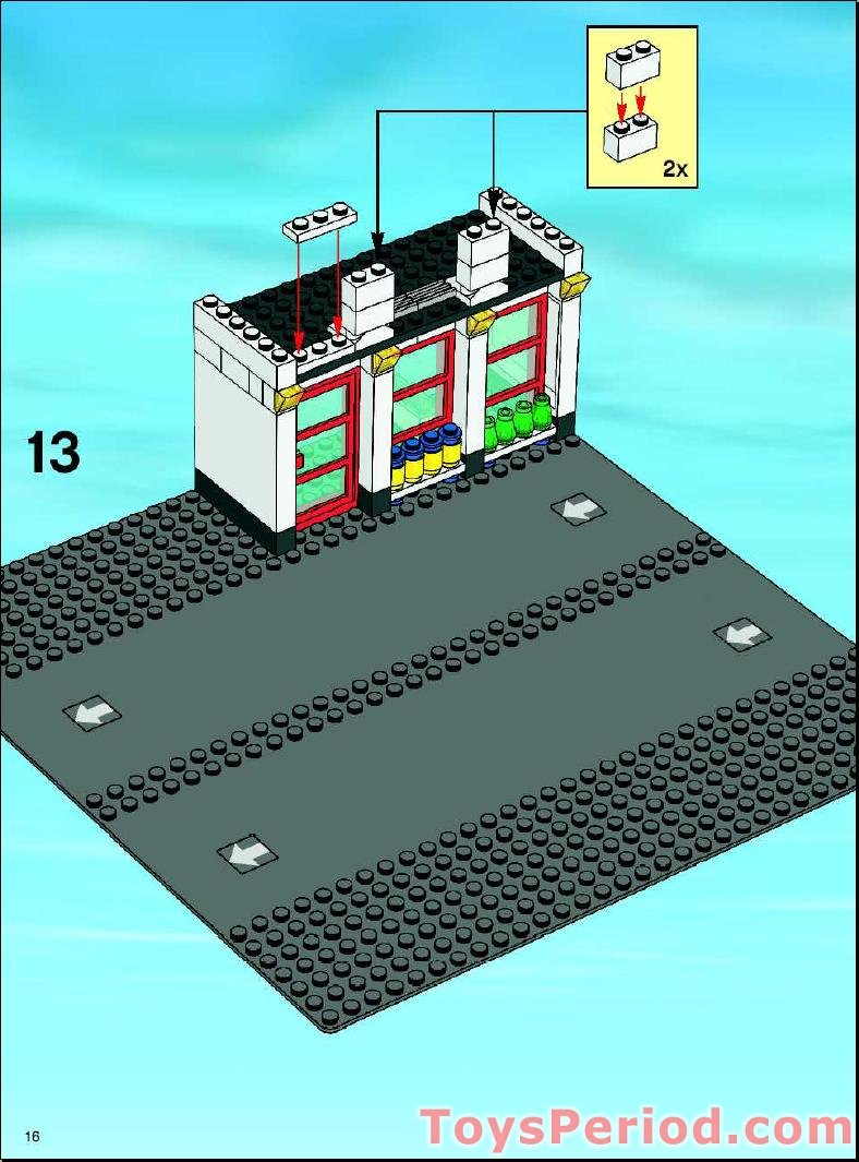 lego city service station instructions