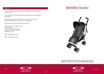 valco baby stroller instructions