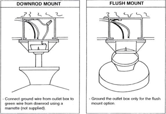 hunter ceiling fan installation instructions