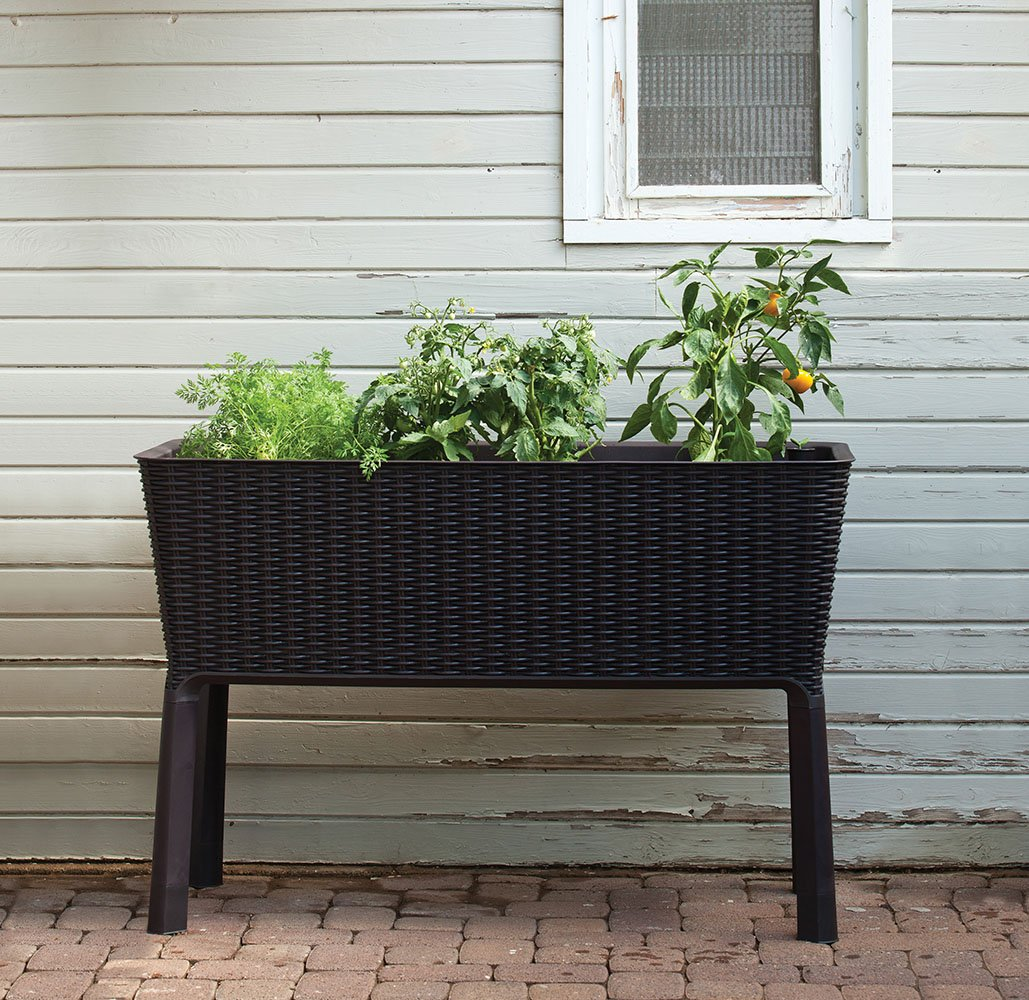 keter easy grow elevated flower garden planter instructions