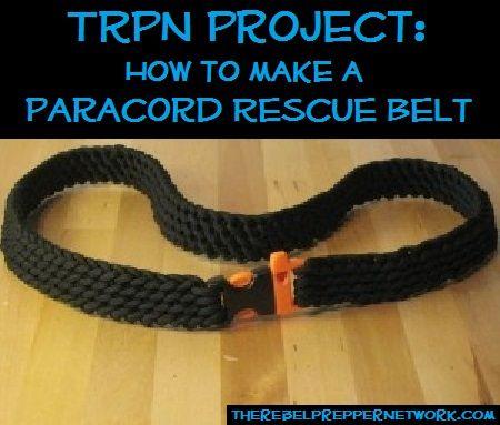 paracord survival belt instructions