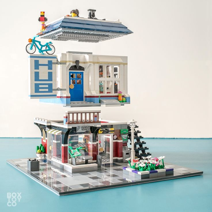 lego winter village toy shop instructions