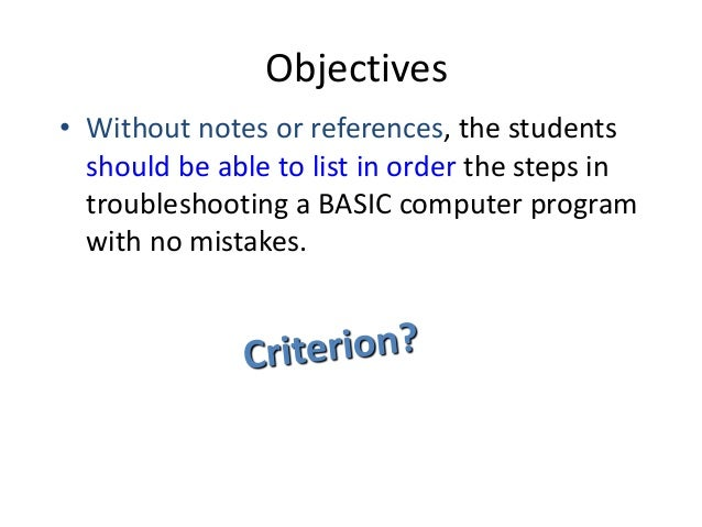 what is instructional objectives