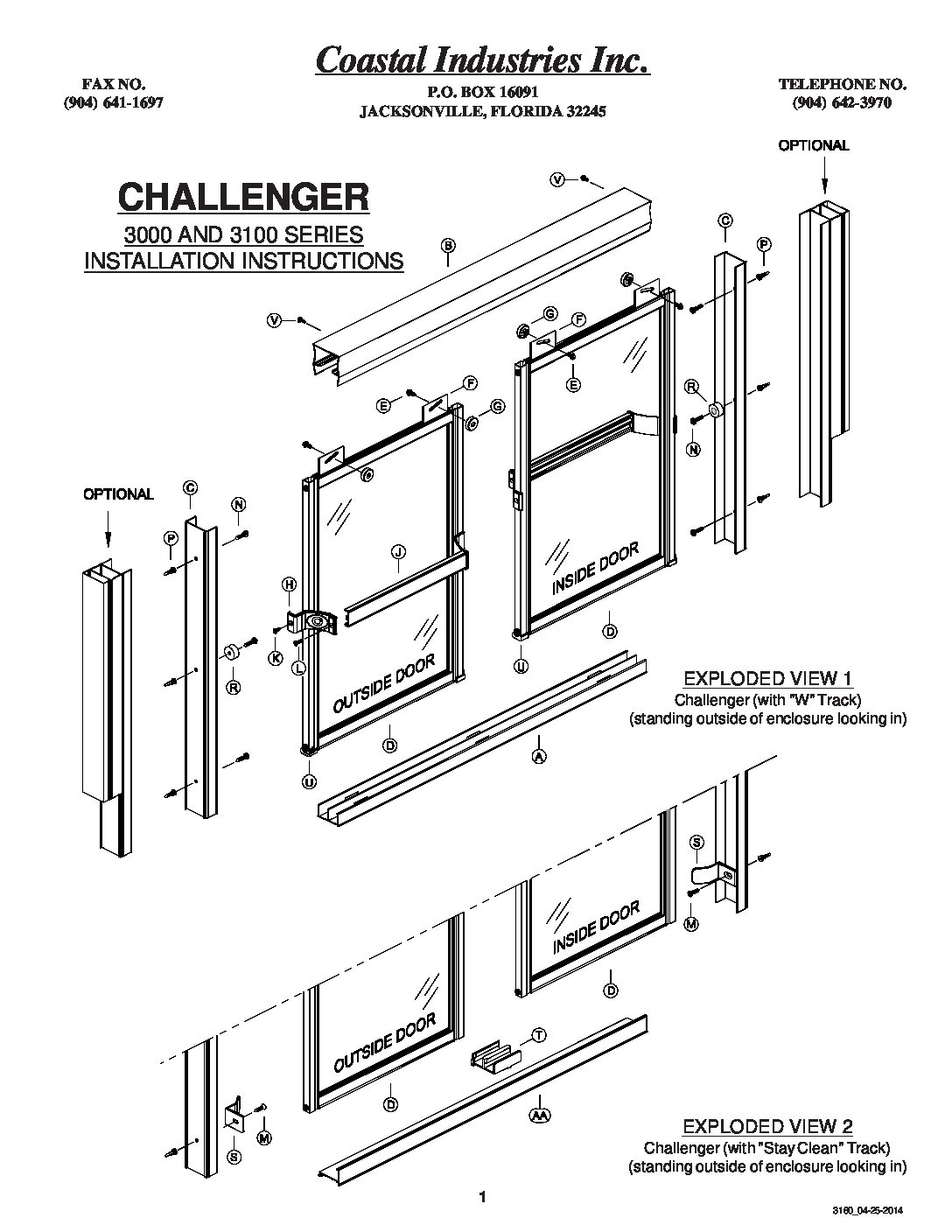 shower door installation instructions