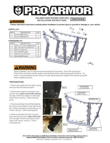 pro armor door installation instructions
