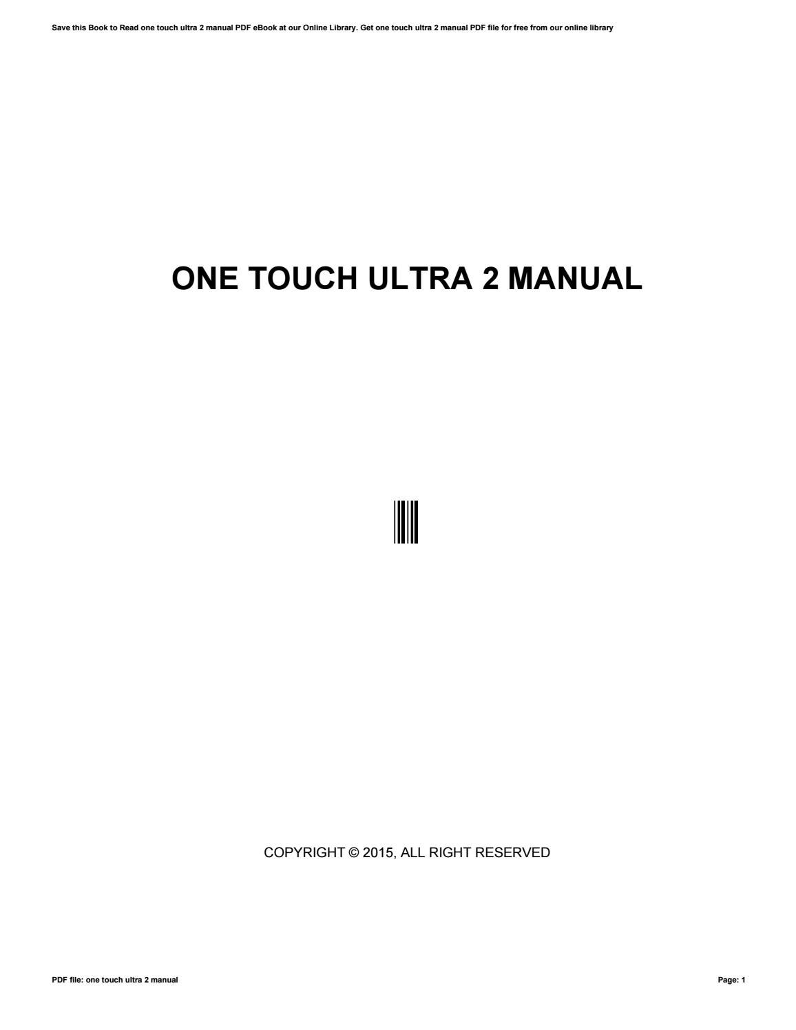 one touch ultra 2 instructions calibration