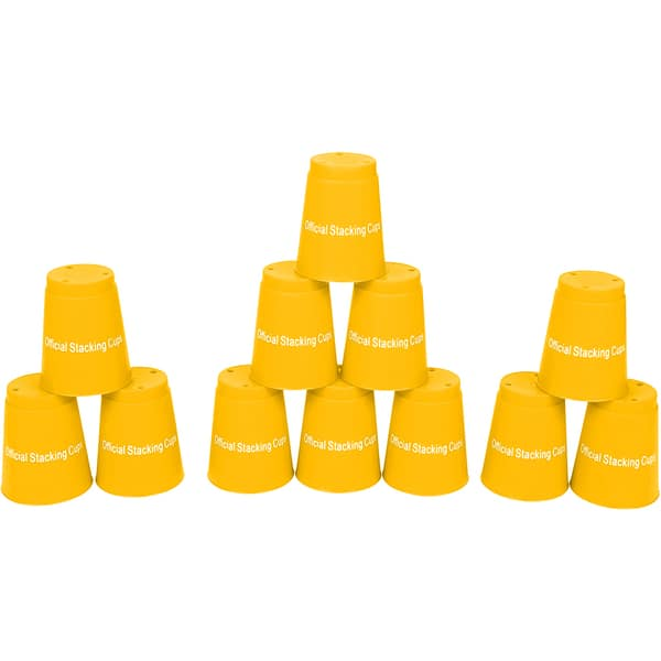 cup stacking game instructions