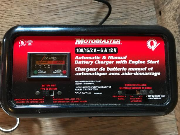 motomaster nautilus battery charger instructions
