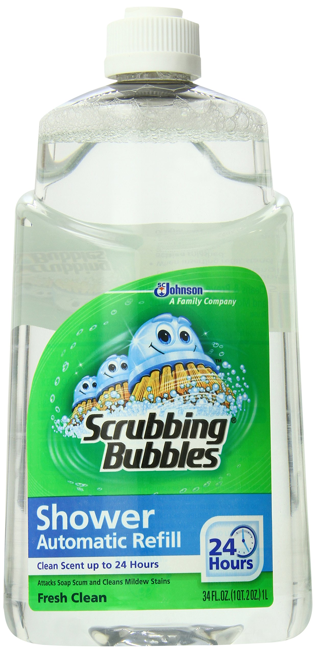 scrubbing bubbles automatic shower cleaner instructions