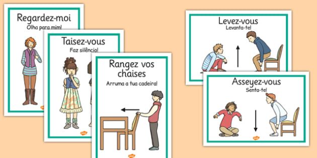 classroom instructions in french