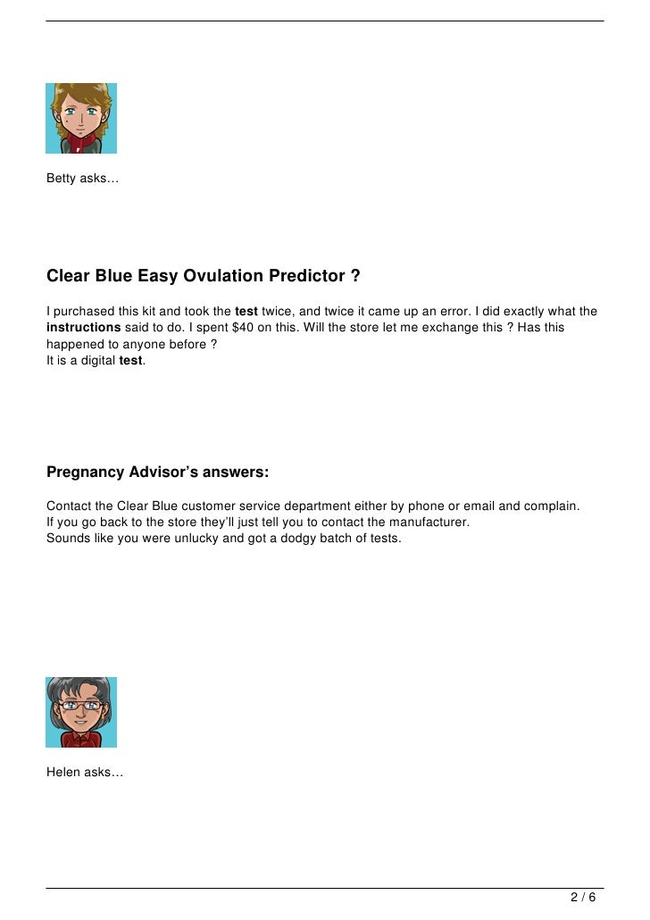 clear blue ovulation test instructions