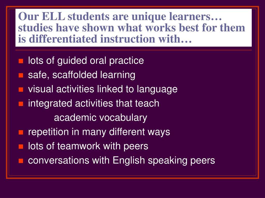 sheltered instruction observation protocol strategies