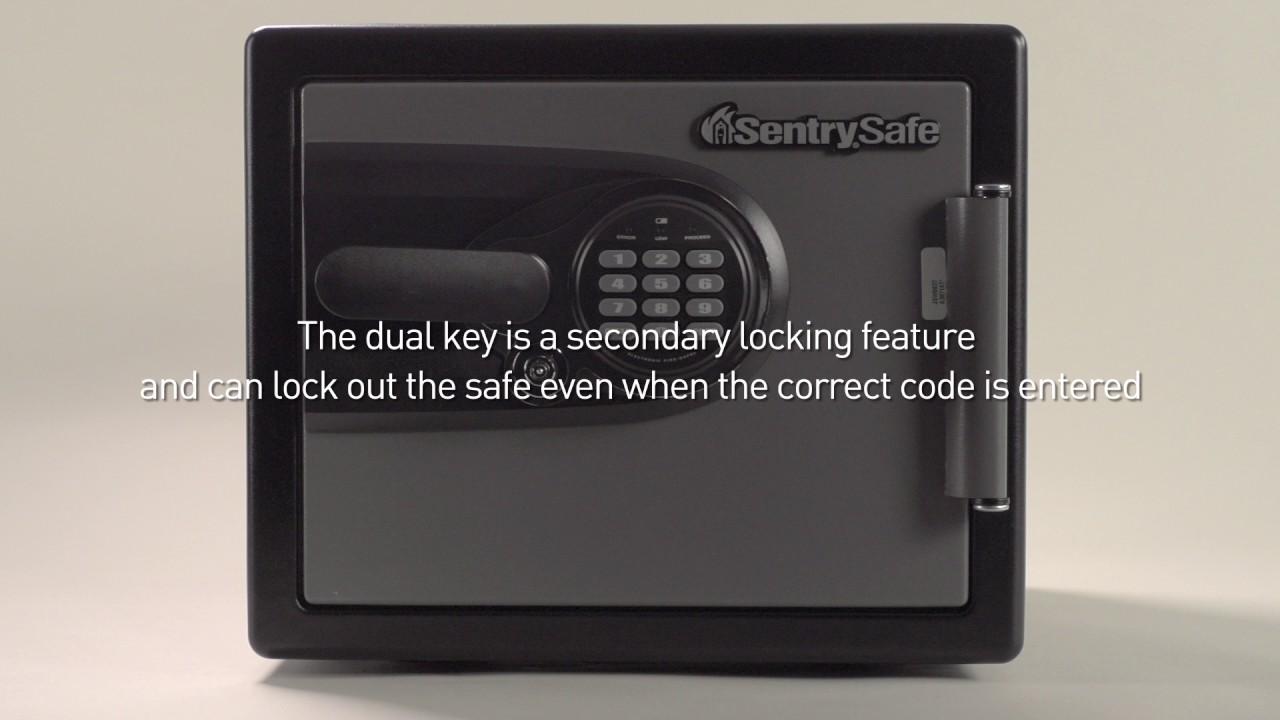 sentry safe instructions electronic