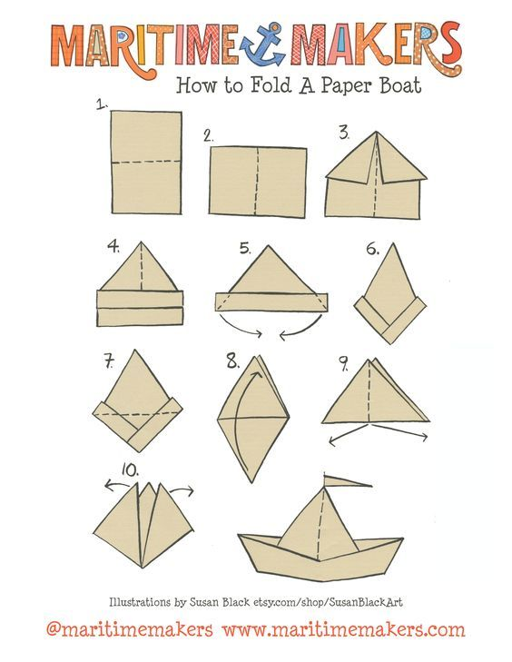 origami boat instructions printable