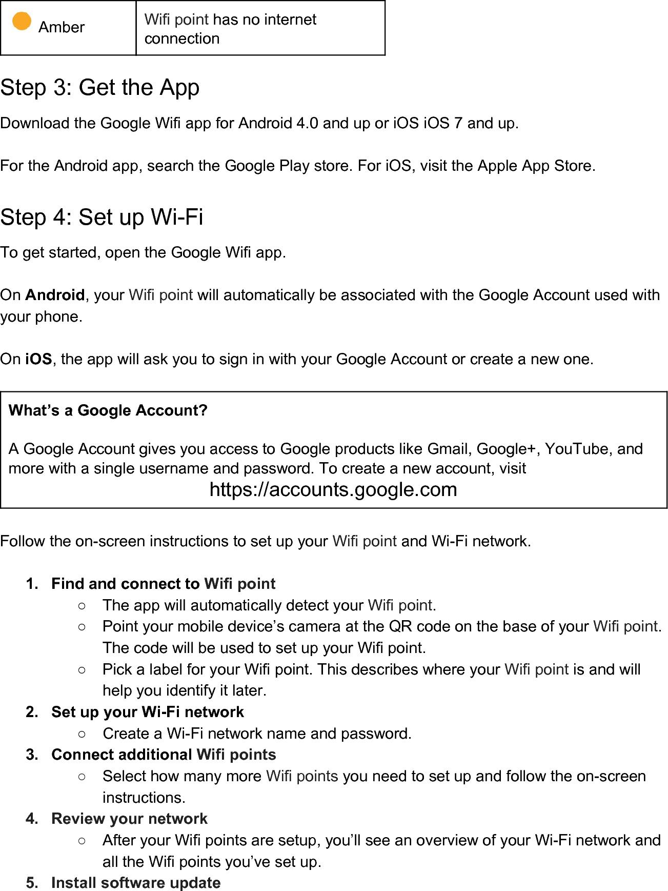 google wifi setup instructions