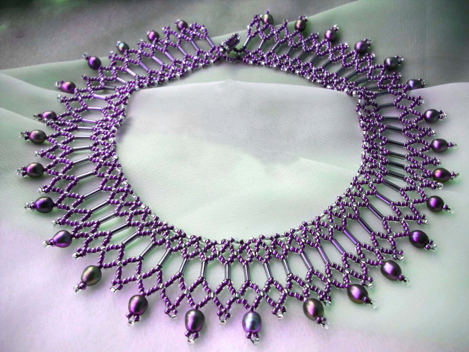 beaded necklace patterns instructions