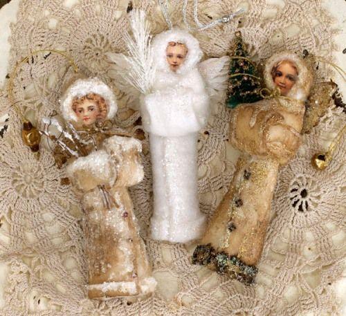 spun cotton ornaments instructions