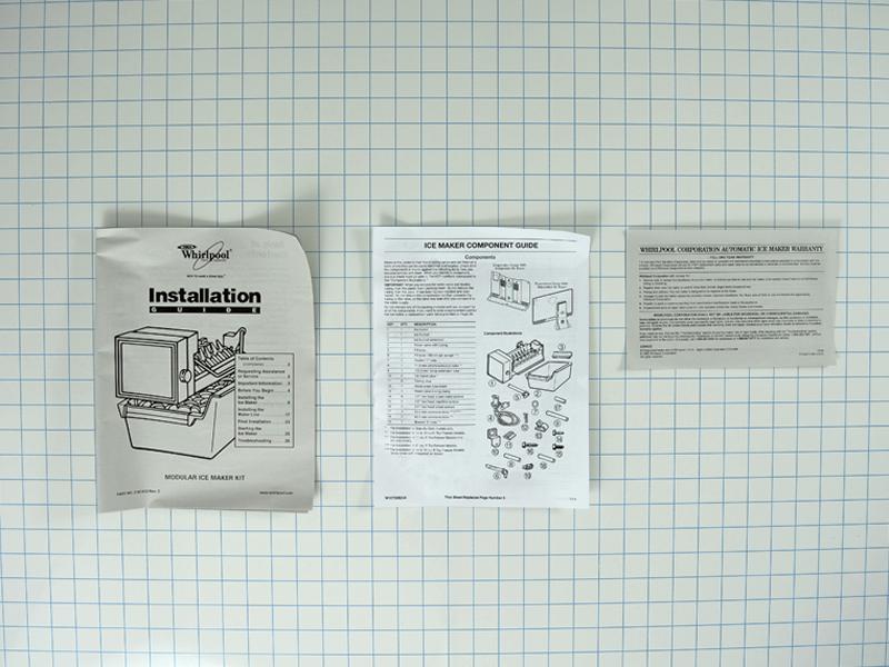 amana refrigerator ice maker instructions