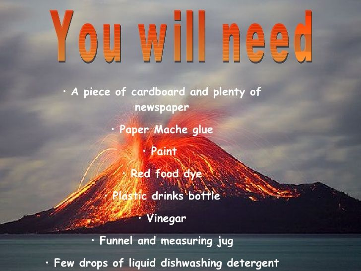 how to make a volcano instructions