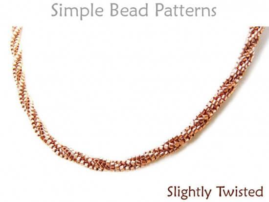 twisted tubular herringbone stitch instructions