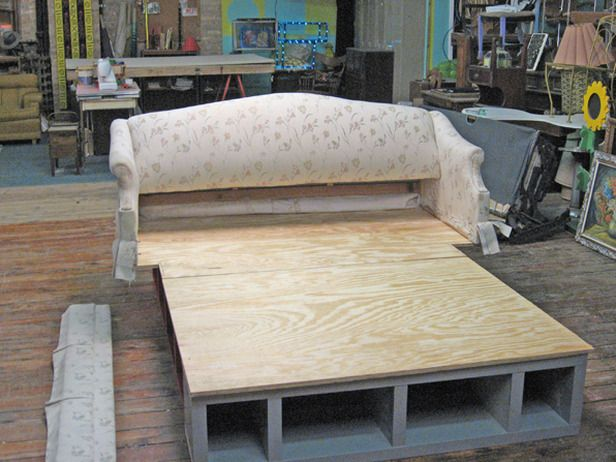 diy pallet bed frame with storage instructions
