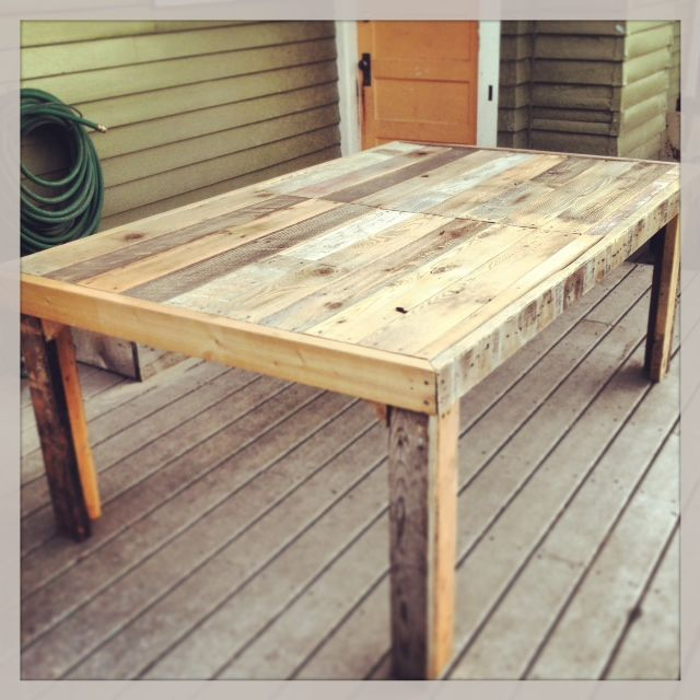 diy pallet dining table instructions