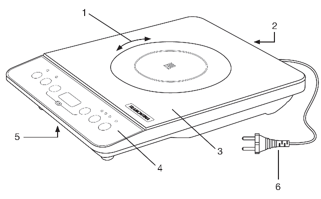 tramontina induction cooktop instructions