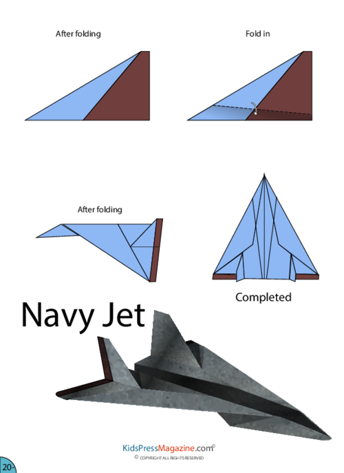 instructions to make a paper plane