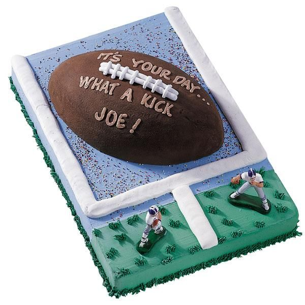 football cake pan instructions