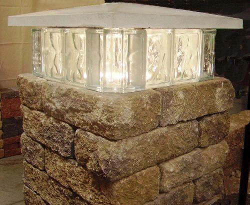 glass block lights instructions