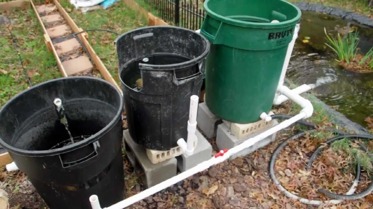 homemade pond filter instructions