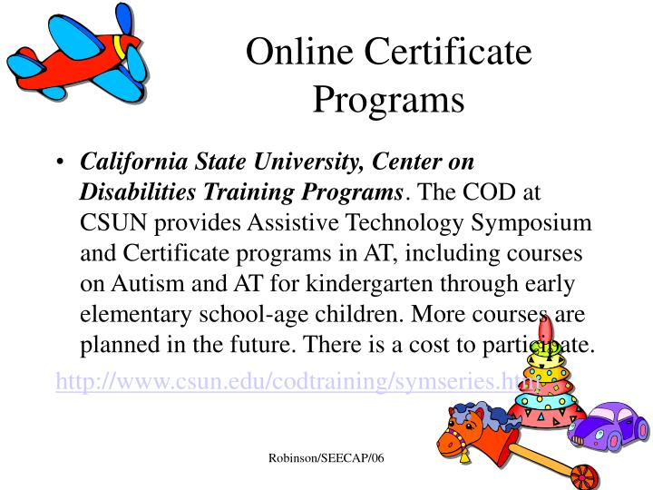 instructional technology specialist certificate online