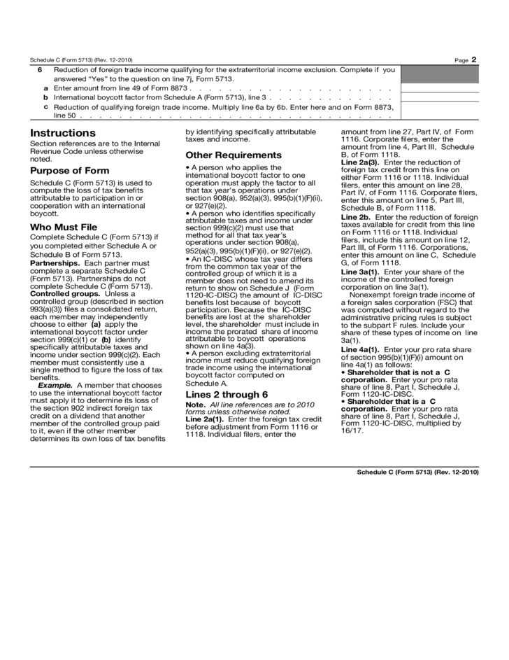irs form 1116 instructions