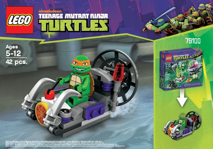 ninja turtle race track instructions