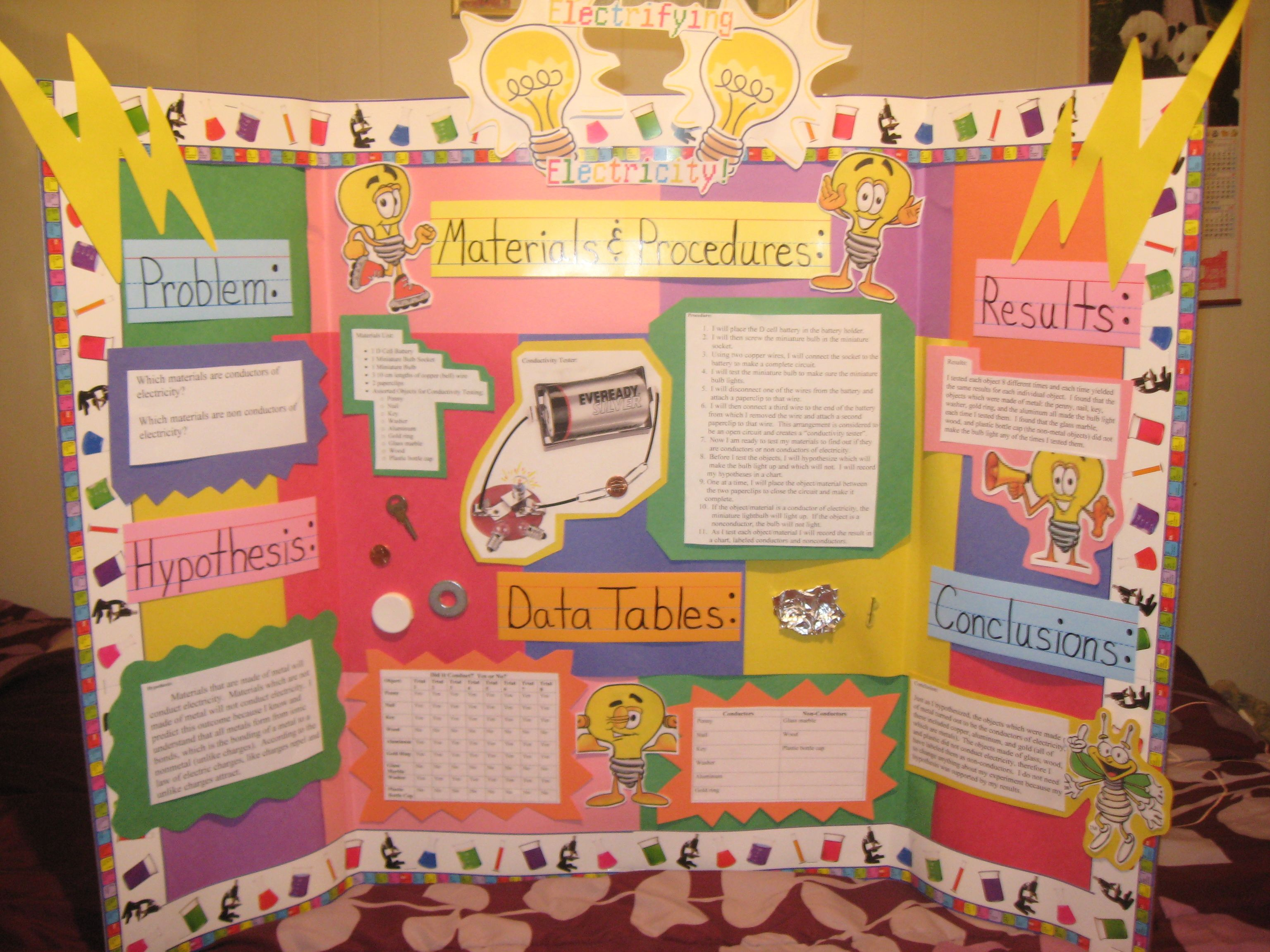 science fair project instructions