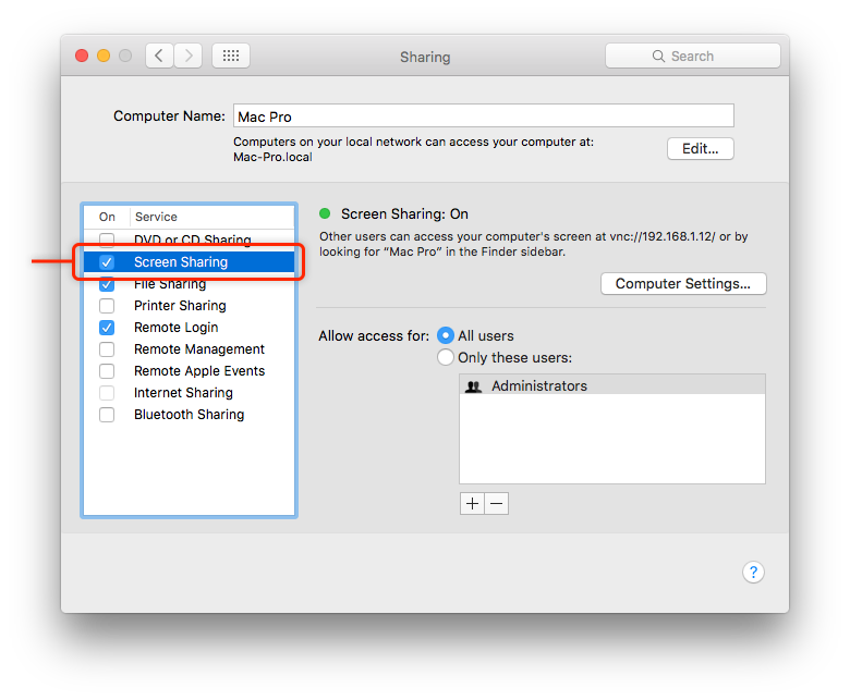 screen connect mac instructions